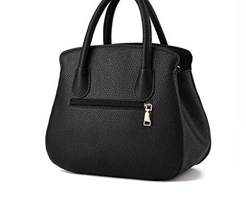 Damenbekleidung Atmosphäre Mode Kuriertasche Schultertasche Handtasche Nieten Kleine Quadratische Paket Metall Reißverschluss Grey