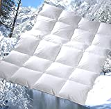 Revital warme Winter Daunendecke 135x200 cm, Wärmeklasse 4, extra-warm 1080g 100%ige Daunen, MADE IN GERMANY