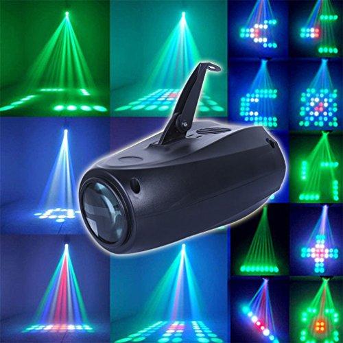 RYC Luz Escenario 64 LED RGBW Multicolor Efecto Discoteca para Bares, Fiestas, Club, Discoteca, Kalaoke, Escenario, etc.