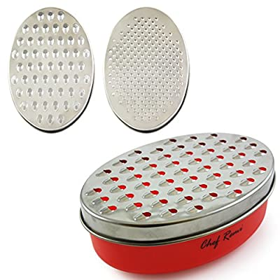 Latest Cheese Grater - Lifetime Replacement Warranty - Rated Top Food Grater With Storage Container - Perfect For Hard & Soft Cheeses, Ginger, Vegetables - Invented To Solve Your Cheese Grating Needs from Chef Remi