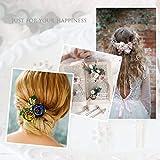Simsly argento sposa fiore matrimonio fermagli per capelli da sposa copricapo accessori per capelli foglie per donne e ragazze