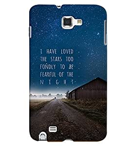 PrintVisa Quotes & Messages Stars 3D Hard Polycarbonate Designer Back Case Cover for Samsung Galaxy Note 2