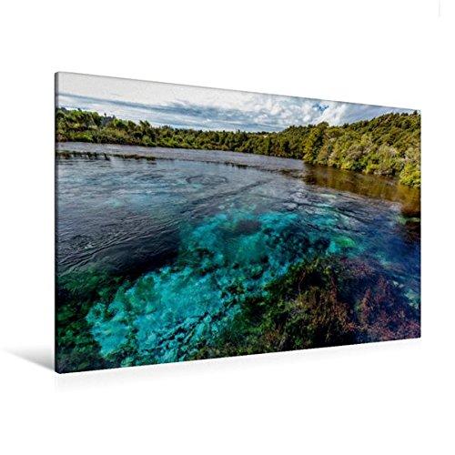 Calvendo Premium Textil-Leinwand 120 cm x 80 cm quer, Te Waikoropuru | Wandbild, Bild auf Keilrahmen, Fertigbild auf echter Leinwand, Leinwanddruck Natur Natur