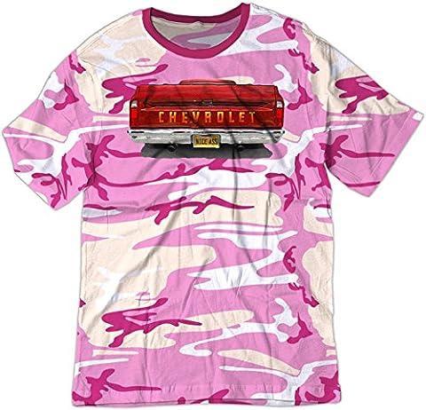BSW Men's Nice Ass 1968 Chevrolet GMC C10 Truck American Shirt XS Pink Camo