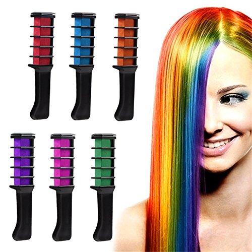 Haar Kreide Haare waschbar Farbe Kamm ungiftig waschbar Haar Dye DIY Party Fans Cosplay Kits für Mädchen Geburtstag Weihnachten Geschenk ()