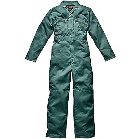 Dickies Redhawk Herren Arbeits-Overall mit Reißverschluss vorne (Brustumfang 91 cm, Bein Reg) (Lincoln-Grün)
