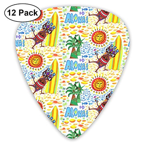 Toast Wallet (Mid Century Modern Tiki Toast, Scale, White Rainbow Colorful_4029 Classic Celluloid Picks, 12-Pack, For Electric Guitar, Acoustic Guitar, Mandolin, And Bass)