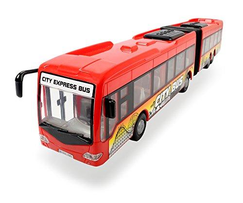 Dickie Toys 203748001 - City Express Bus, Gelenkbus, 46 cm, rot / weiß, zufällige Farbauswahl -