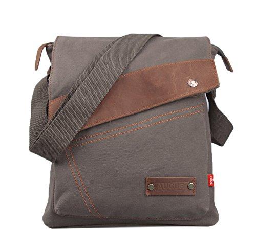 Zenness New Fashion Canvas Schultertasche Messenger Bag Lässige Umhängetasche Reisetasche (Armee-Grün)