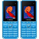 (CERTIFIED REFURBISHED) I KALL K2180 Selfie Feature Dual Sim 1.8 Inch Mobile Phone,Blue & Blue