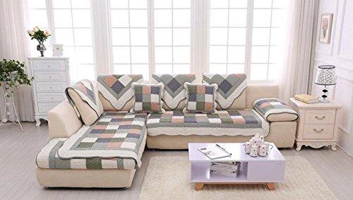HZJ Gartensofa Kissen Baumwolle Einfach Rutschfeste Tuch Sofakissen Sofa Handtuch Elegant Luxury Sofa PolstermöBel Schutz, 70 * 180cm