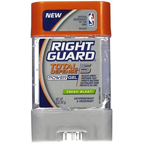 Right Guard Total Defense 5 Power Gel Antiperspirant/Deodorant-Fresh Blast-3 oz