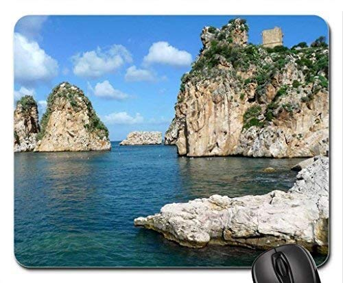 Rocks in The Sea Mouse Pad, Mousepad (Beaches Mouse Pad)