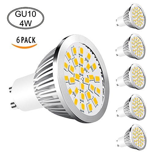 GU10 LED Lampen Aptoyu 6er-Pack 4W LED Leuchtmittel Ersatz für 40-50W Halogenlampen 350lm Warmweiß 3000K LED Birnen