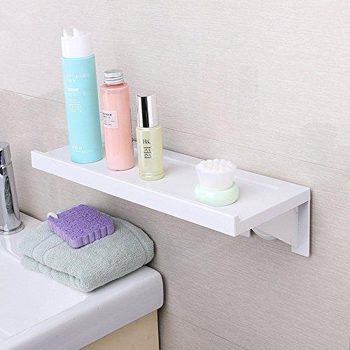 LIAN Badezimmer-Wand-Rack-Badezimmer-freies-bohrendes Regal-Toiletten-Speicher-Gestell-Einheits-Regal-Lagerung (Farbe : No Trace Installation) - Tv-speicher-einheit