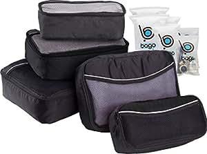 packing cubes 5pcs value set for travel bago luggage. Black Bedroom Furniture Sets. Home Design Ideas