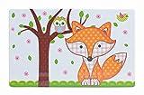 Frühstücks-Brettchen für Kinder, 4er Set | Süßes Schneidebrettchen mit buntem Fuchs-Motiv | Rechteckiges Motiv-Brettchen, 23x14 cm | Spülmaschinengeeignetes Vesper-Brettchen | Ideale Geschenk-Idee