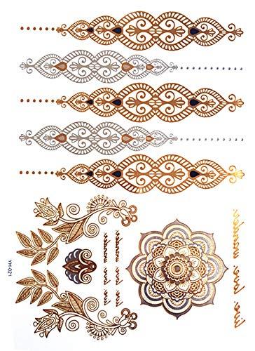 oo Aufkleber Armband der Partei Schmuck Mode Tattoos der Flash Pasta Tattoo Make-up Arm wasserdicht Tattoo Hellgrün ()