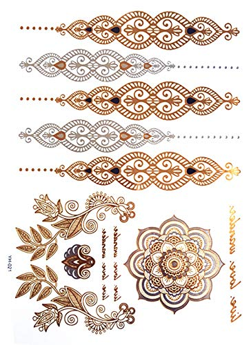 Temporäre Gold Tattoo Aufkleber Armband der Partei Schmuck Mode Tattoos der Flash Pasta Tattoo Make-up Arm wasserdicht Tattoo Hellgrün
