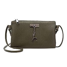 Borsa donna tracolla zip,Borse Messenger borsa donna pelle pu handbag tracolla Fashion lady fulvo Borsa messenger a…