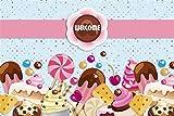 MMPTn Ride 9x6ft Baby Shower Photo Toile De Fond Bonbons Lollipop Cupcake Biscuits Petite Fille Garçon Candyland Photographie Backdrops Expectant Mère Sexe Reveal Fête Photobooth Photo Studio Props