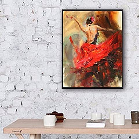 Hübsche Frau Malerei Hand bemalte Leinwand zurück zu bauen , 50cm*70cm