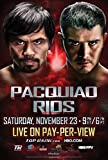 PACQUIAO vs RIOS – Fight Boxing Wall Poster Print - 30CM X 43CM Brand New