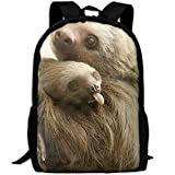best& Sloth Mom and Baby Unique School Rucksack College Bookbag Unisex Travel Backpack Laptop Bag