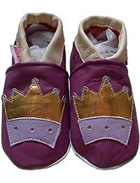 bbkdom - « Queen» Chaussons cuir souple bébé et enfant de 0 à 6 ans