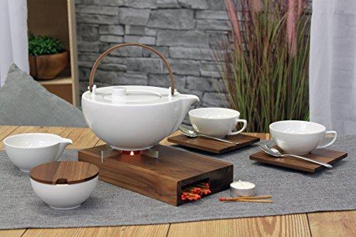 Friesland Tee-Service 8tlg. Chai Nussbaum