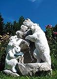 Brunnen (handbemalt) aus Betonwerkstein inkl. Pumpe und Zubehör Gartenbrunnen Wasserspiel Säulenbrunnen Steinbrunnen