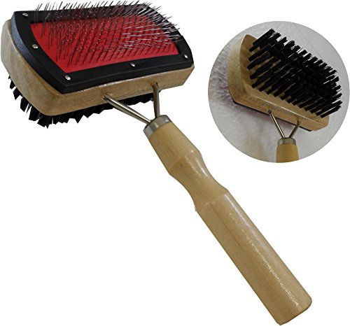 7-pet-brush-with-wire-on-one-side-and-nylon-bristles-on-the-other-4-x-2-head-pack-of-2-pcs-
