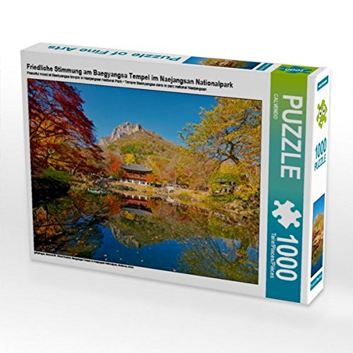 Friedliche Stimmung am Baegyangsa Tempel im Naejangsan Nationalpark 1000 Teile Puzzle quer (CALVENDO Orte)