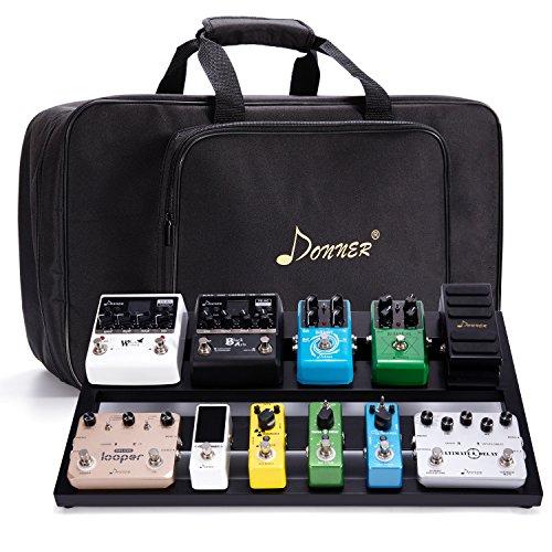 Donner Gitarre Pedal Board Case DB-3 Aluminium Pedalboard mit Tasche