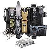 TRSCIND 11-in-1 Survival Kits mit Paracord-Armband, Mehrzweck-EDC-Notfallausrüstung im Freien und Gebrauchsgepäck, offizielles Überlebenskit
