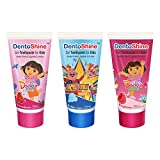 #6: DentoShine Gel Toothpaste for Kids - Pack of 3 Flavors (Bubble Gum, Raspberry & Strawberry, 80 g each)