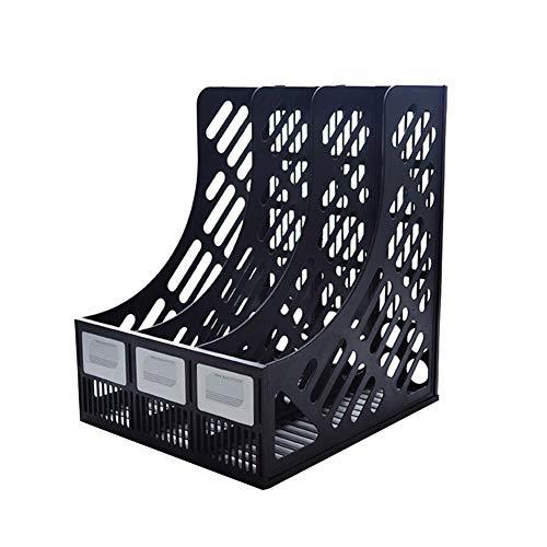 Purebesi Schreibtisch Aufbewahrungsbox Mesh Metall-Ordner-Box DREI Fach Box-Dateien Kunststoff robuste große Kapazität kann Bücher und A4 Briefpapier organisieren