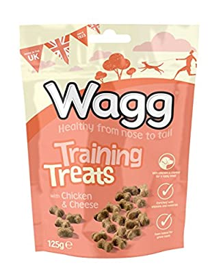 Wagg Chicken and Cheese Training Dog Treats, 7 x 125 g