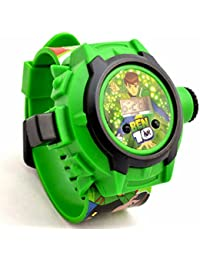 Shanti Enterprises Combo Sports Watch Multi Color Dial For Kids And Ben 10 24 Images Projector Watch