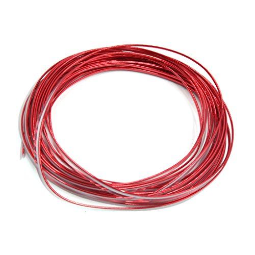 sourcingmap® Bright Red Car Interior Exterior Decoration Moulding Trim Strip Line 10M Lenght DE de -