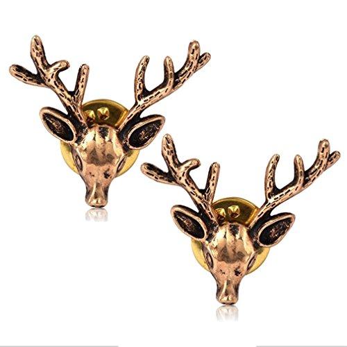 sewanz da donna Vintage Oro Renna Spilla per colletto Lapel Stick Spilla Pin per (Piccolo Elk)