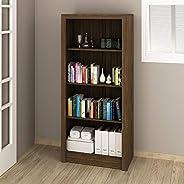 Tecnomobili Bookcase, Walnut - W 31.5 cm x D 60 cm x H 138 cm