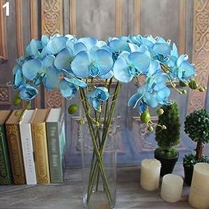 Lc3w9youc – Flor Artificial de orquídea de Mariposa, 1 Pieza para decoración del hogar o Boda, Color Morado, Morado…