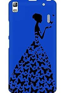 AMEZ designer printed 3d premium high quality back case cover for Lenovo K3 Note (dark blue princess)