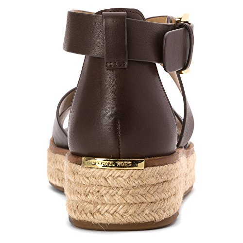 Michael Michael Kors Darby Sandal Cuir Sandales Dk Chocolate