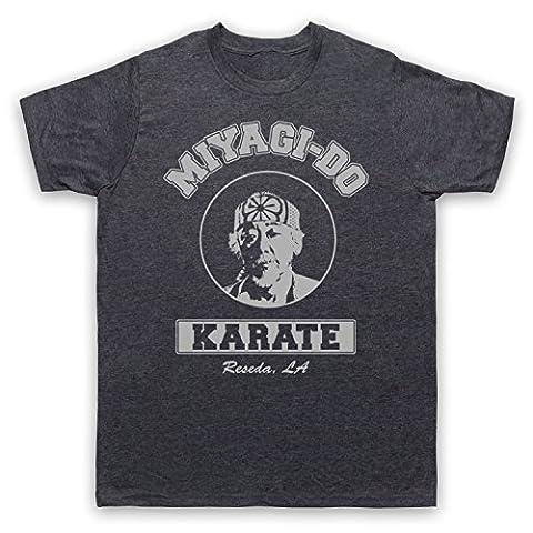 Karate Kid Mr Miyagi Mens T-Shirt, Vintage Slate,