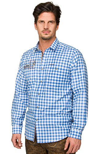 Trachtenhemd Jim azur, XXL