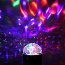 CroLED 3W 220V RGB Mini Bombillas Lámpara Led Giratoria bola mágica Foco para Fiesta Efecto Discoteca Lampara DJ Discoteca Luces Multicolor