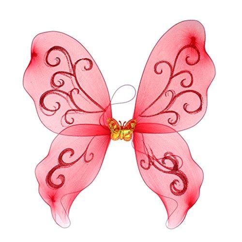 Homyl Mädchen Feenflügel Schmetterlingsflügel Elfenflügel Engelflügel Kostüm Accessoires zum Kindergeburtstag Themenparty und Fasching - ()