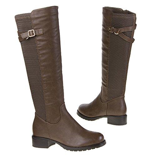 Damen Schuhe, 119-PG, STIEFEL Hellbraun 119-PG